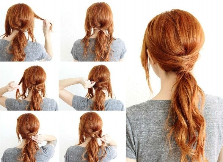 Criss Cross Ponytail – Add Some Uniqueness To A Basic Ponytail In In Criss Cross Side Ponytails (View 3 of 25)