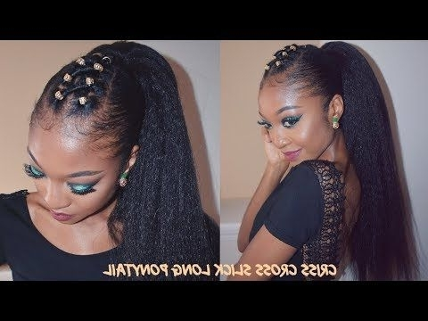 Criss Cross Slick Ponytail On Thick Natural Hair | Disisreyrey Inside Criss Cross Side Ponytails (View 9 of 25)