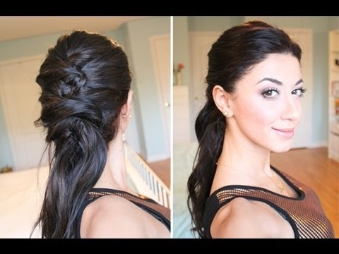 "Crisscross ""ponytail"" Hairstyle – Youtube Regarding Criss Cross Side Ponytails (View 23 of 25)"