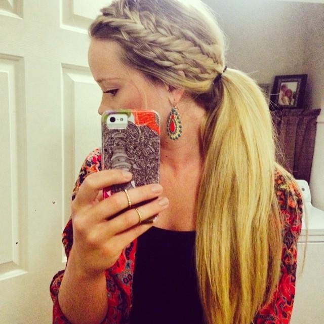 Crown Braid Ponytail Throughout Braided Crown Pony Hairstyles (View 22 of 25)