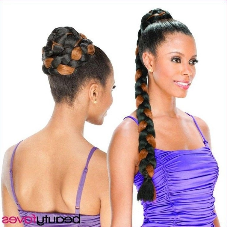 Cupcakeshake N Go Freetress Synthetic Hair Braided Bun Dome Throughout Braid And Bun Ponytail Hairstyles (View 9 of 25)