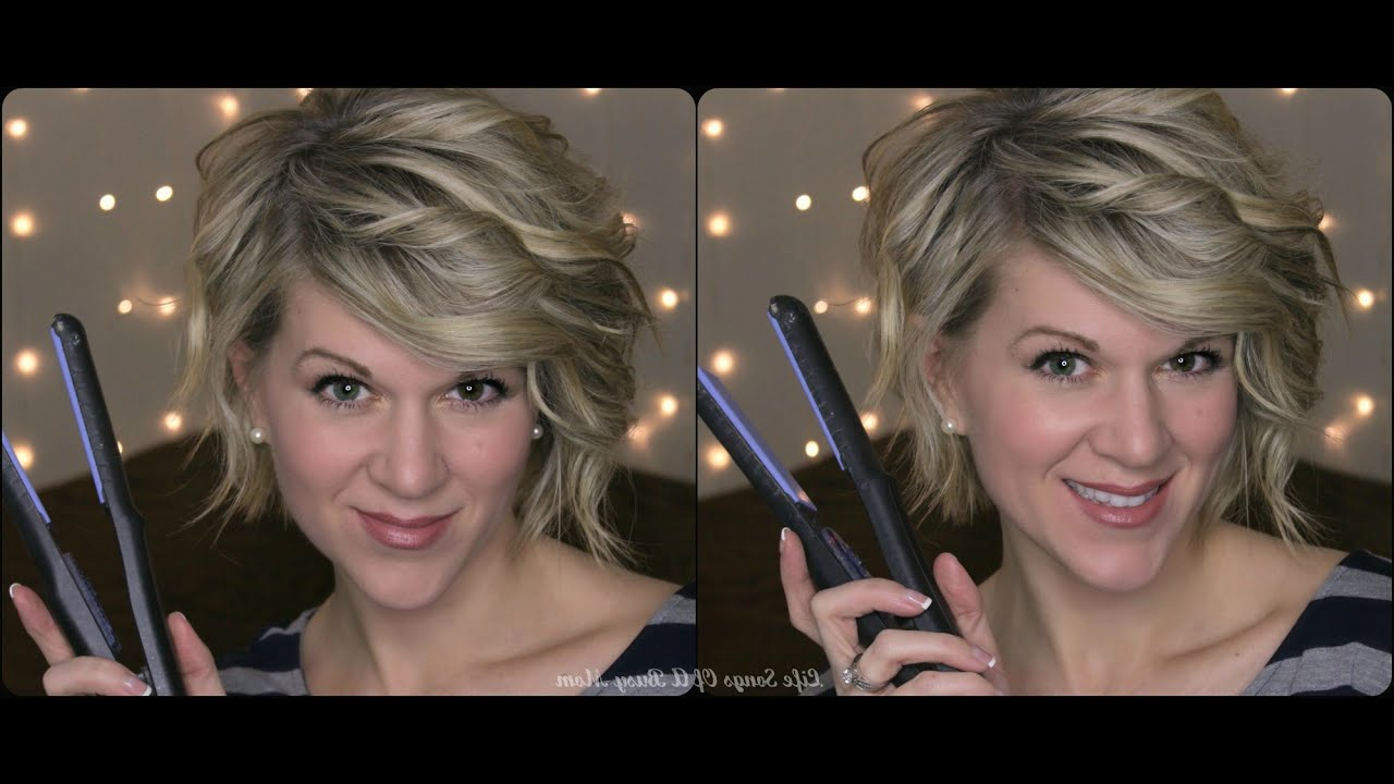 Curly Hair Tutorial For Inverted Or Stacked Bob –Using A Flat Iron Pertaining To Stacked Curly Bob Hairstyles (View 18 of 25)
