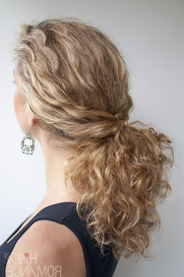 Curly Hairstyle Tutorial – The Twist Over Ponytail | Style Love Throughout Tangled And Twisted Ponytail Hairstyles (View 4 of 25)