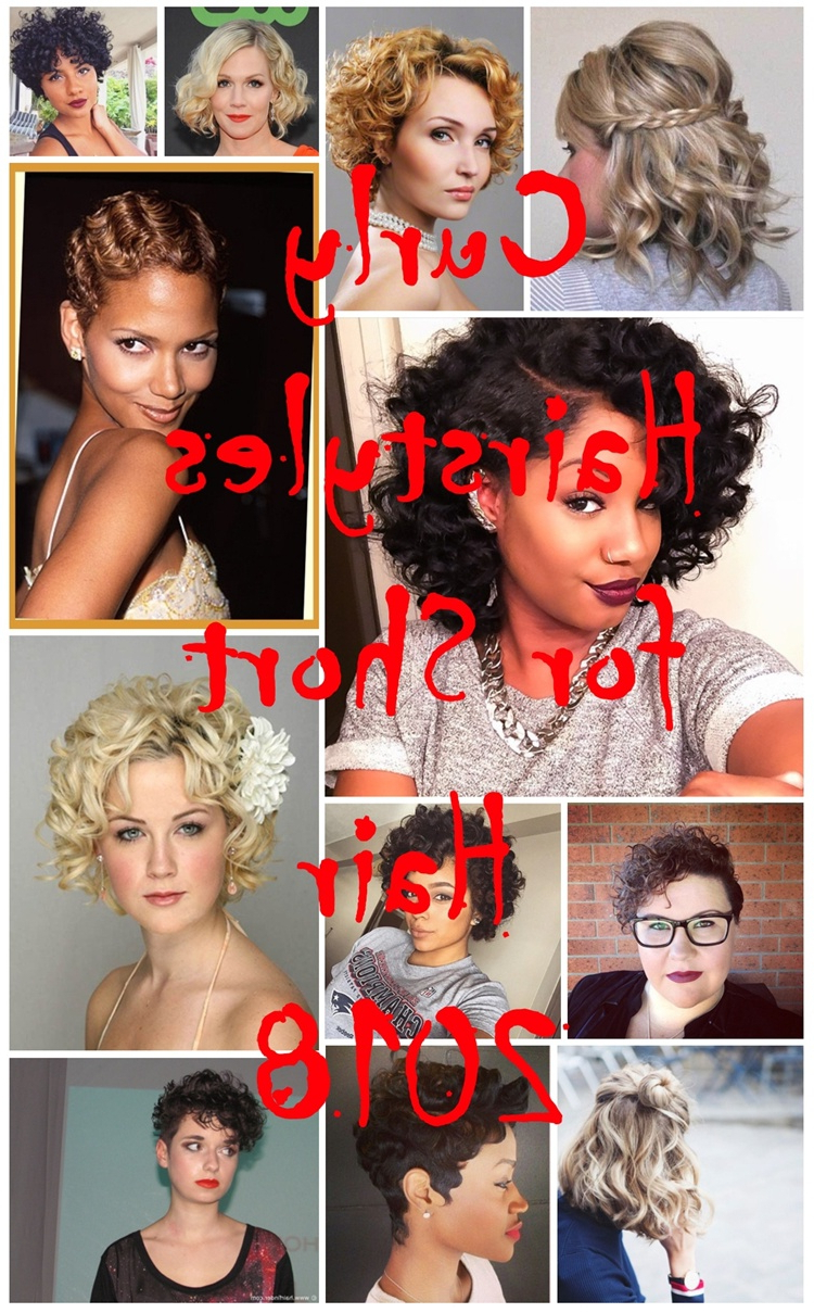 Curly Hairstyles For Short Hair 2018 – Best Hairstyles Advice For Women In Special Occasion Short Hairstyles (View 21 of 25)