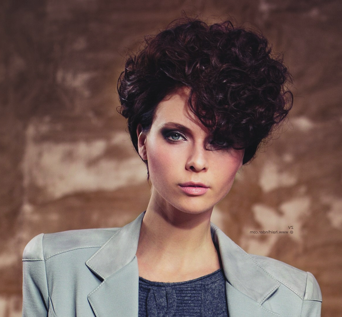 Curly Hairstyles : Messy Curly Short Hairstyles Curly Hairstyless With Messy Curly Pixie Hairstyles (View 19 of 25)