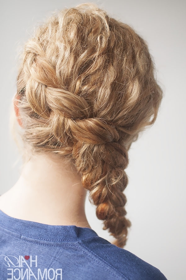 Curly Side Braid Hairstyle Tutorial – Hair Romance Regarding Simple Messy Side Ponytail Hairstyles (View 24 of 25)