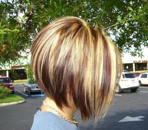 Cute Asymmetrical Short Bob Haircuts 2017 With Two Tone | Hair In Throughout Two Tone Stacked Pixie Bob Haircuts (View 9 of 25)
