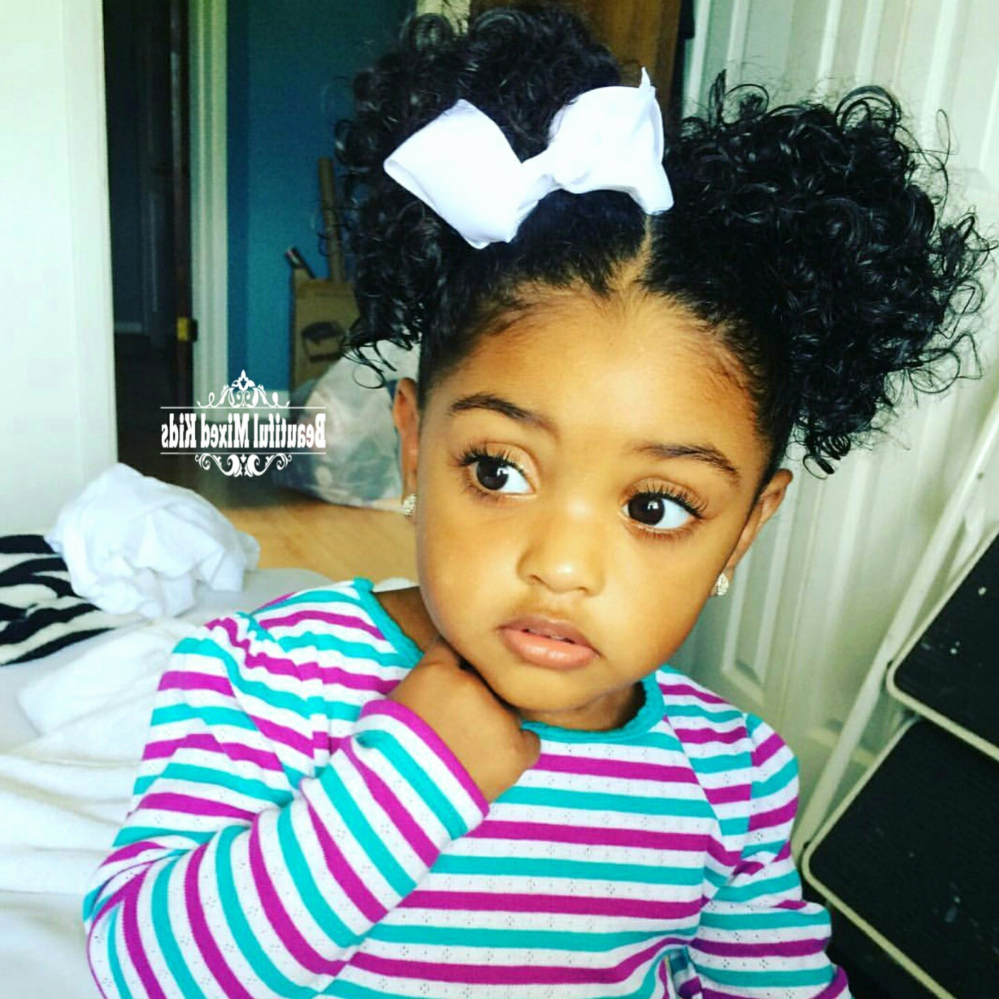 Cute Black Girl Hairstyles Short Hair – Hairstyles Ideas For Black Baby Hairstyles For Short Hair (View 17 of 25)