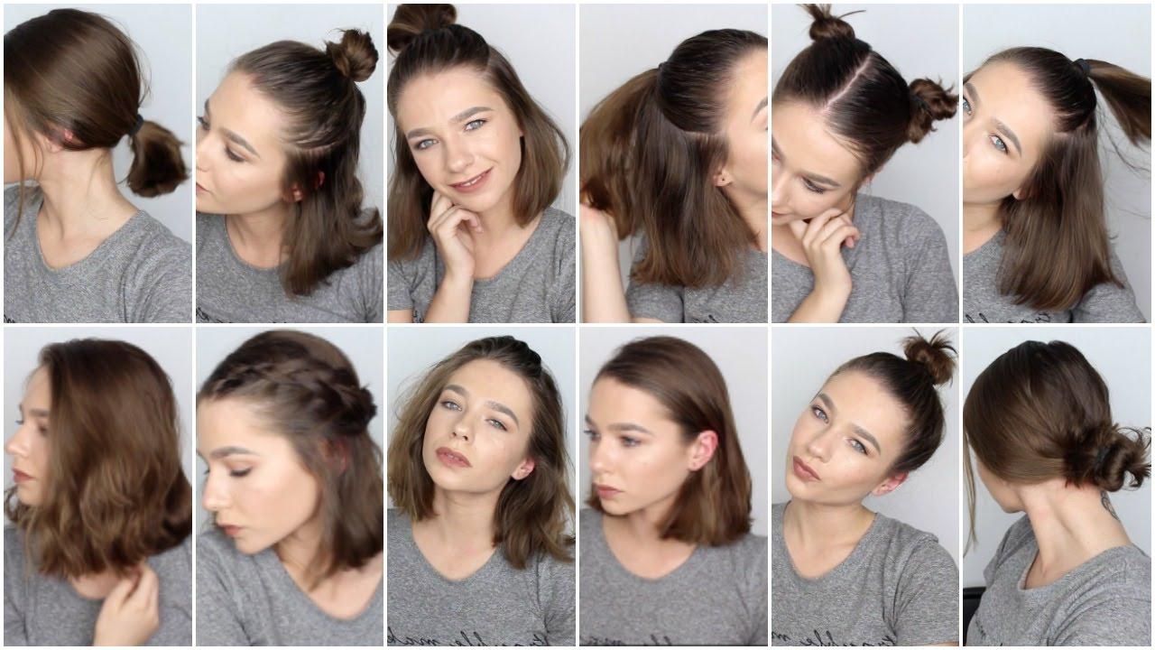 Cute Easy Hairstyles For Short Hair – Hairstyles Ideas In Cute Hairstyles With Short Hair (View 13 of 25)