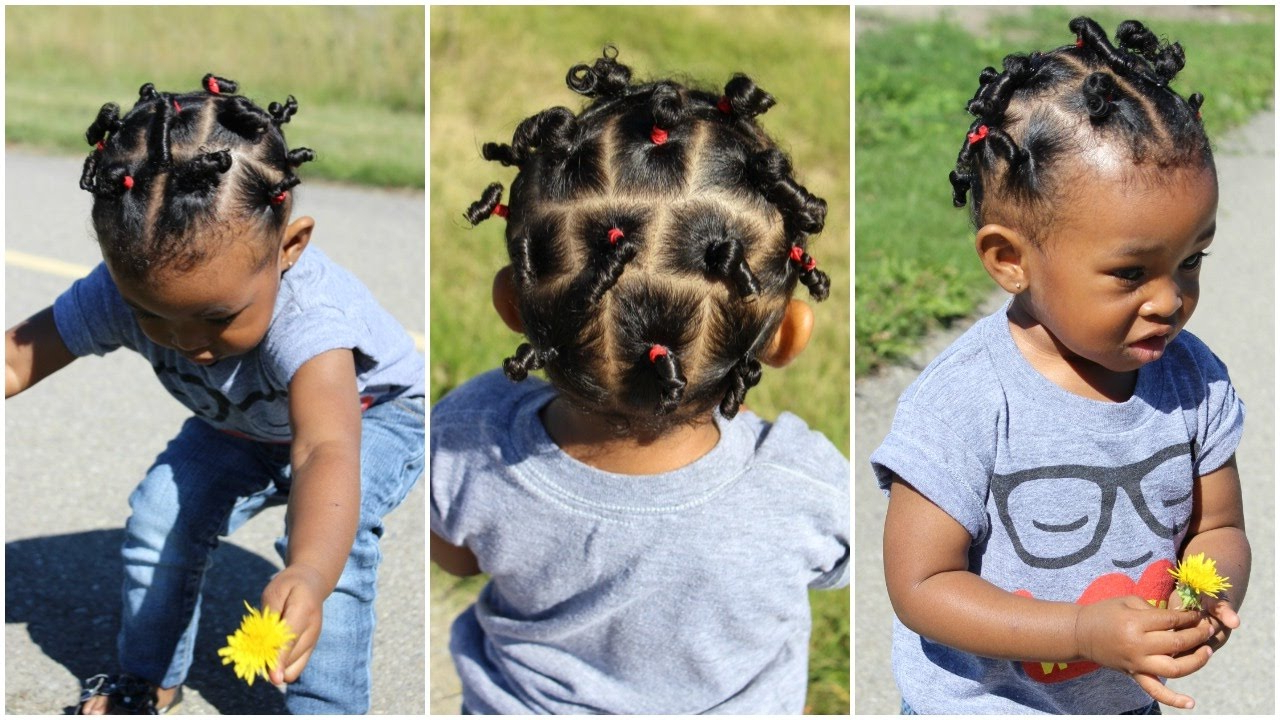 Cute Hairstyle For Kids With Short Hair | Throwback Of Sekora – Youtube For Black Baby Hairstyles For Short Hair (View 7 of 25)