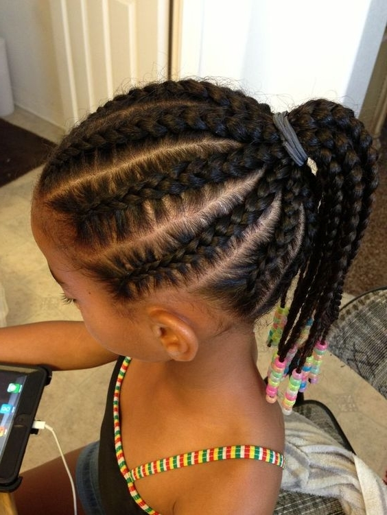Cute Hairstyles For Little Black Girls | Girls Hair Guide Intended For Beach Friendly Braided Ponytails (View 12 of 25)