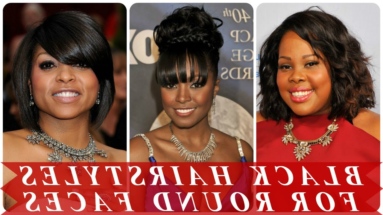 Cute Hairstyles For Round Faces Black Women – Youtube For Short Haircuts For Round Faces Black Hair (View 24 of 25)