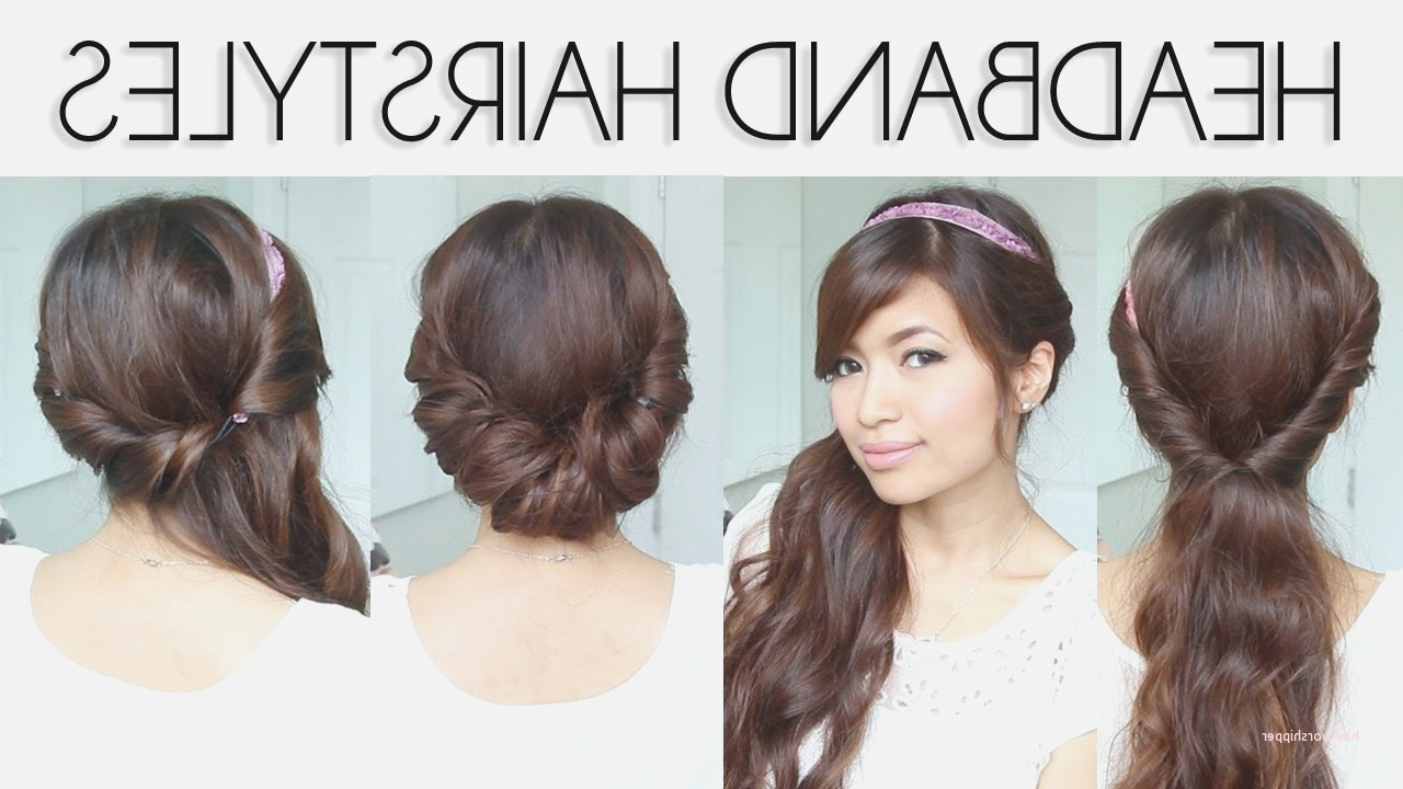 Cute Hairstyles With Headbands For Short Hair Fresh 媴 Easy In Cute Short Hairstyles With Headbands (View 25 of 25)