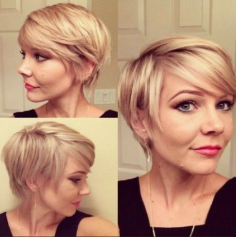 Cute Short Hairstyles For Women – Layered Bob Cut With Side Swept Intended For Layered Bob Hairstyles With Swoopy Side Bangs (View 6 of 25)