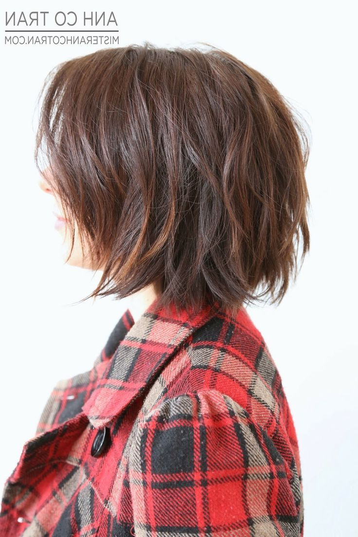 Cute Short Shaggy Bob … | Beauty In 2018… In Simple Short Hairstyles With Scrunched Curls (View 18 of 25)