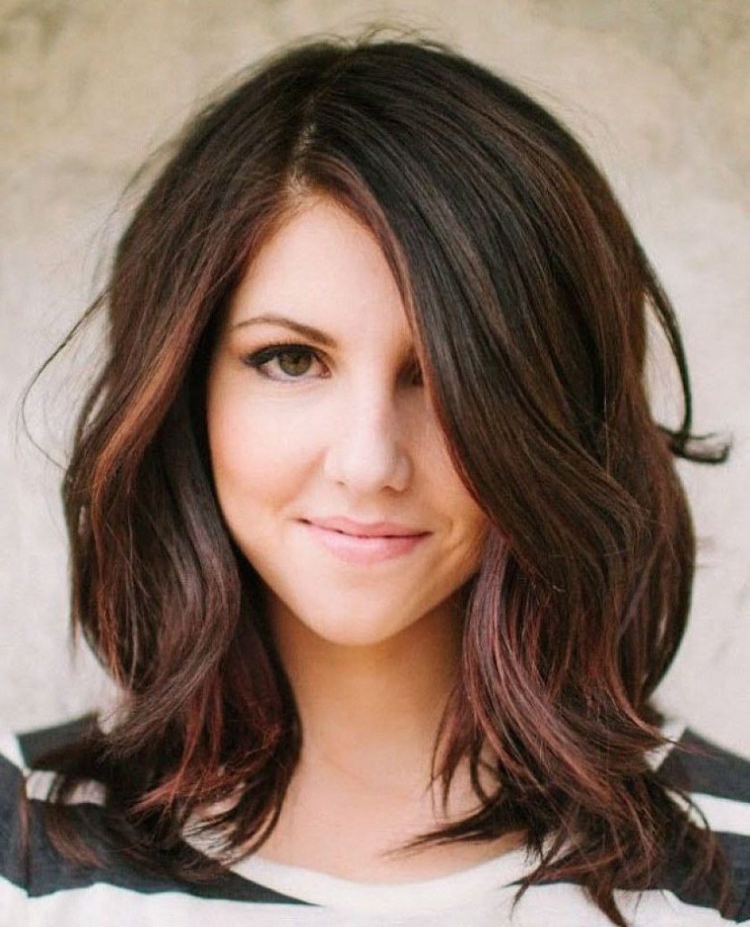 Cute Shoulder Length Haircuts For Round Faces Cute Hairstyle For Inside Short Medium Haircuts For Thick Hair (View 16 of 25)