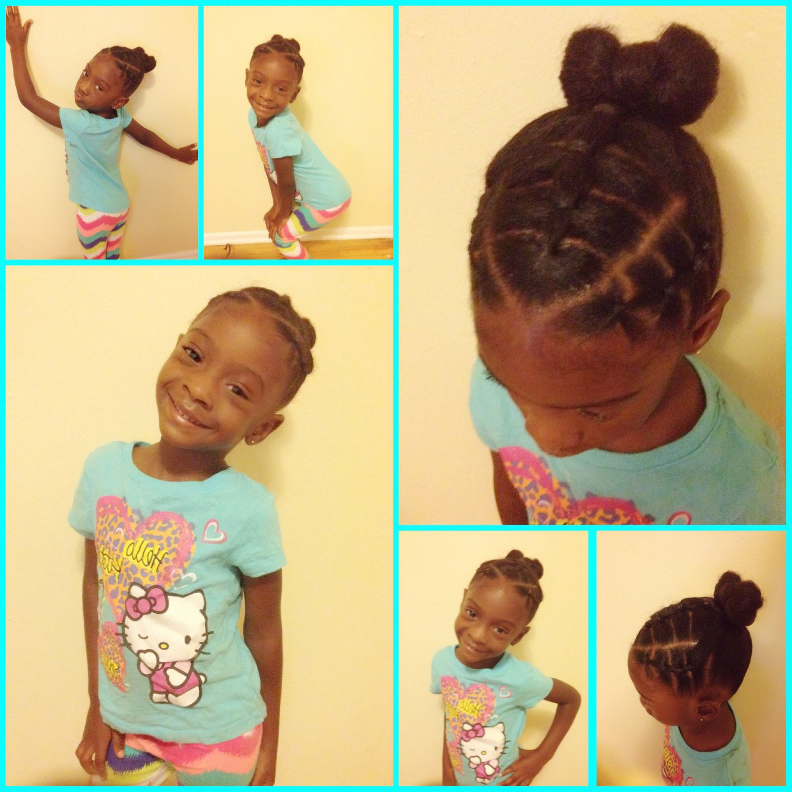 Cute Toddler Hairstyles / Little Girls Hairstyles / Black Little Within Black Little Girl Short Hairstyles (View 3 of 25)