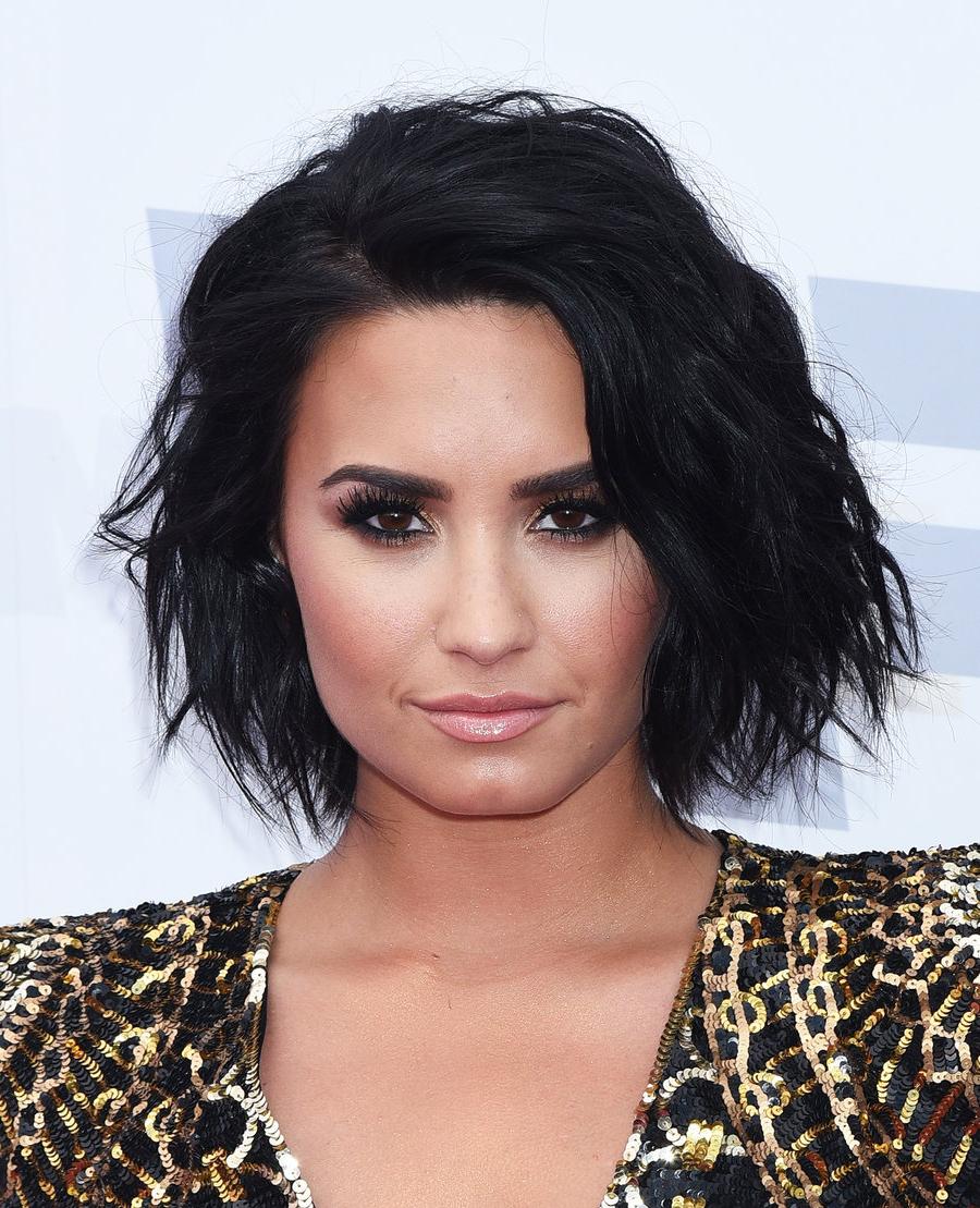 Demi Lovato's Changing Hair | Billboard in Demi Lovato Short Hairstyles