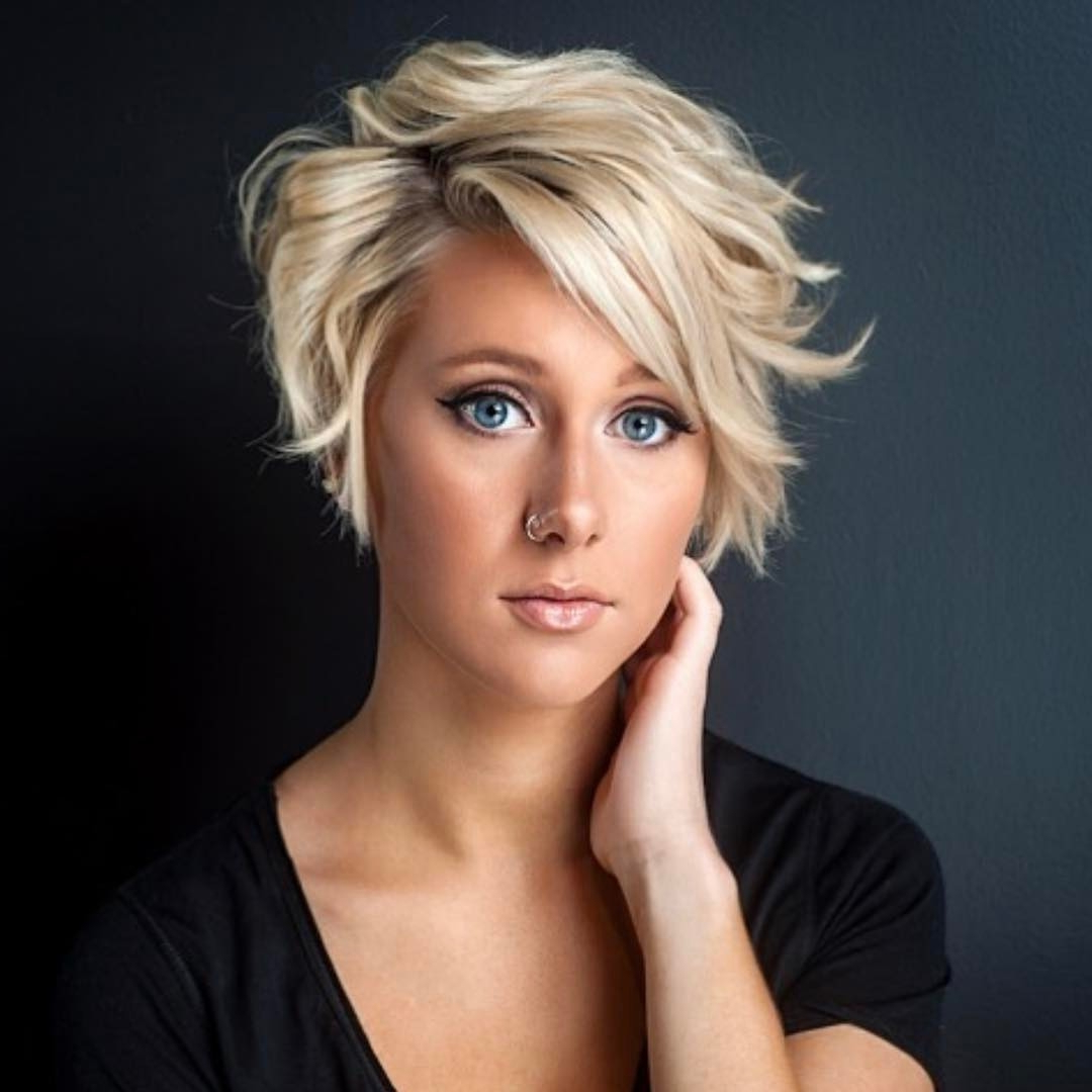 Different Short Hairstyles Heavy On Top With Picture | Hairstyles Inside Trendy Short Hairstyles (Gallery 15 of 25)