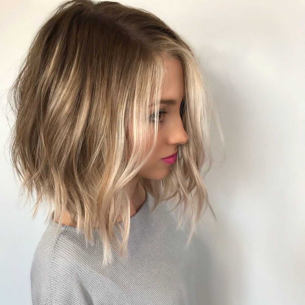Dimensional, Face-Framing Balayage In 2018 | Haircolor Formulas within Short Curly Hairstyles With Long Face-Framing Pieces