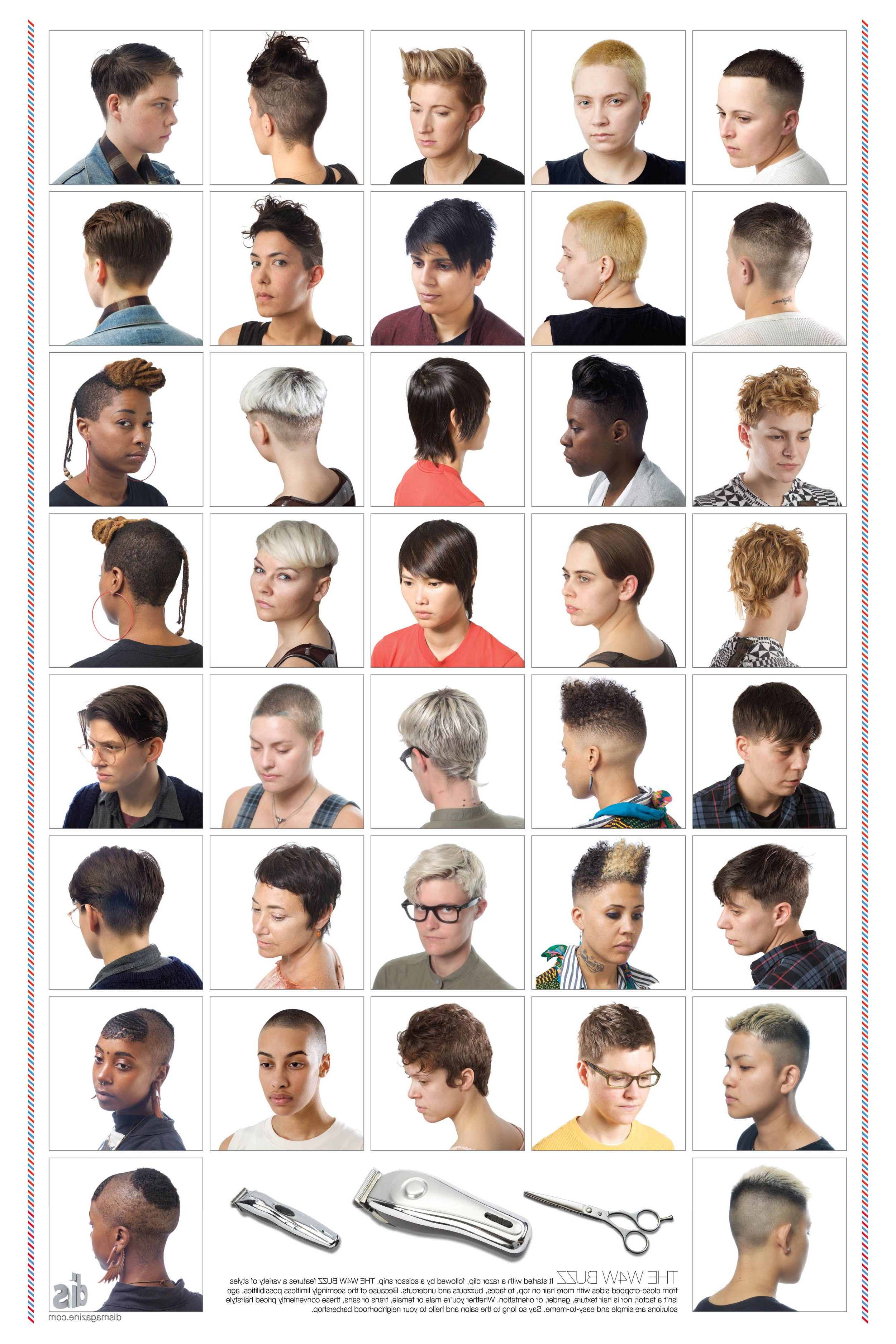 Dis Magazine, No Date. This Modern Poster Features Short, Masculine in Short Haircuts For Studs