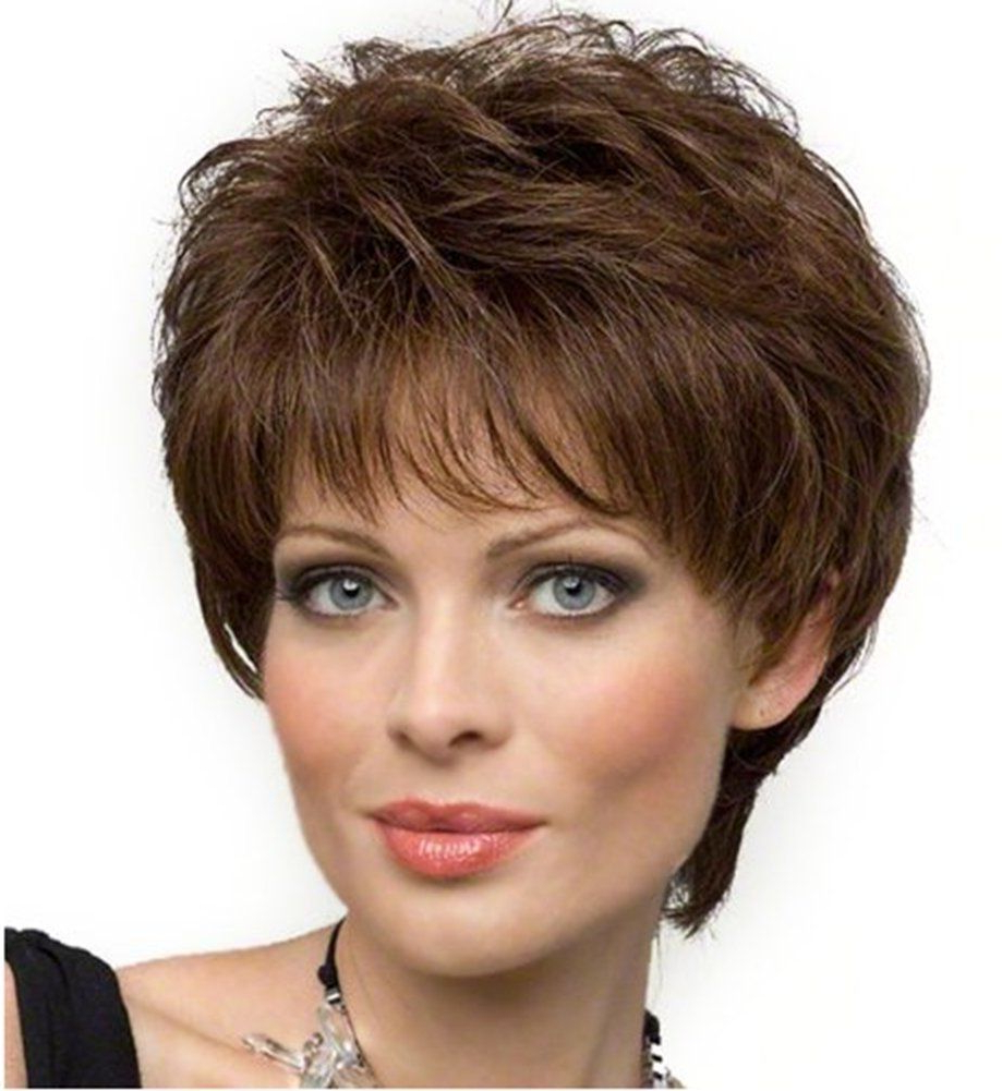 Diy-Wig Beautiful Medium Auburn Short Fluffy Full Hair Wigs For for Auburn Short Hairstyles