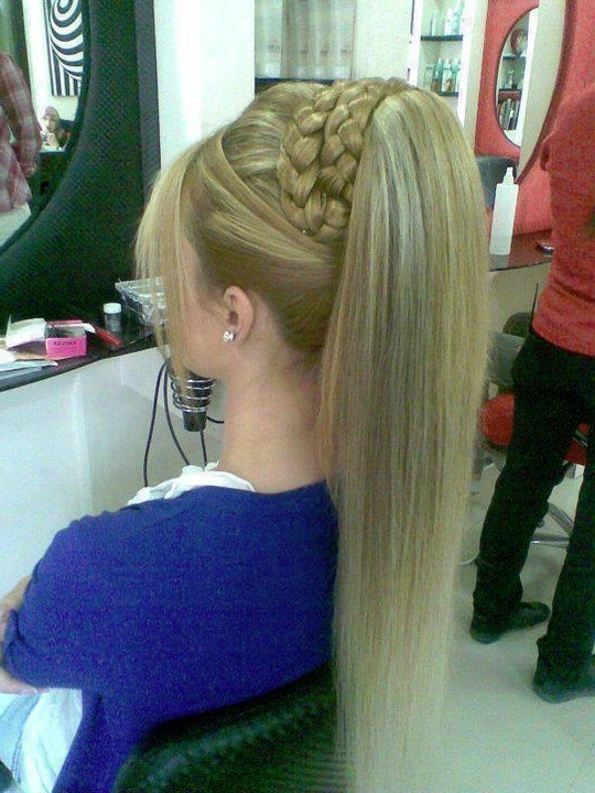Double Braid Ponytail – Long Hairstyles How To in Blonde Ponytails With Double Braid