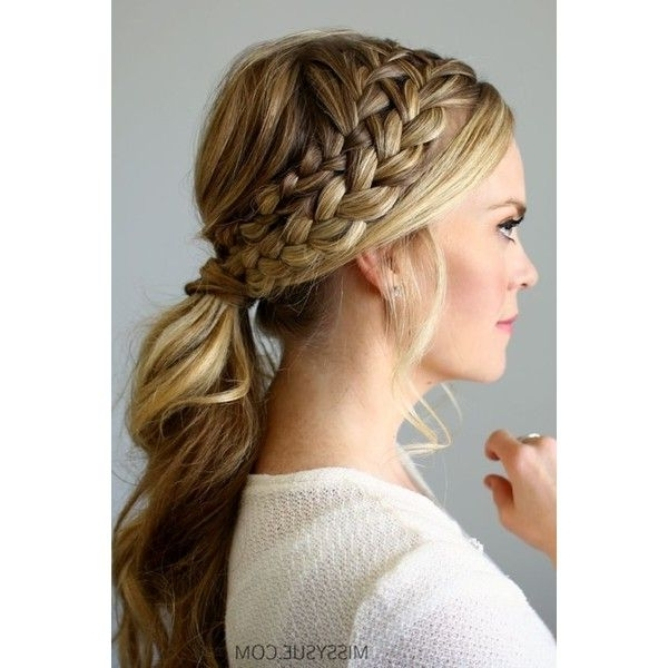Double Braided Ponytail ? Liked On Polyvore Featuring Accessories throughout Blonde Ponytails With Double Braid