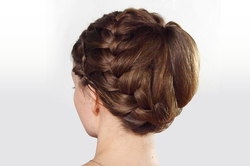 Double Braided Updo Hairstyle: 3 Steps (With Pictures) Inside Messy Double Braid Ponytail Hairstyles (View 19 of 25)