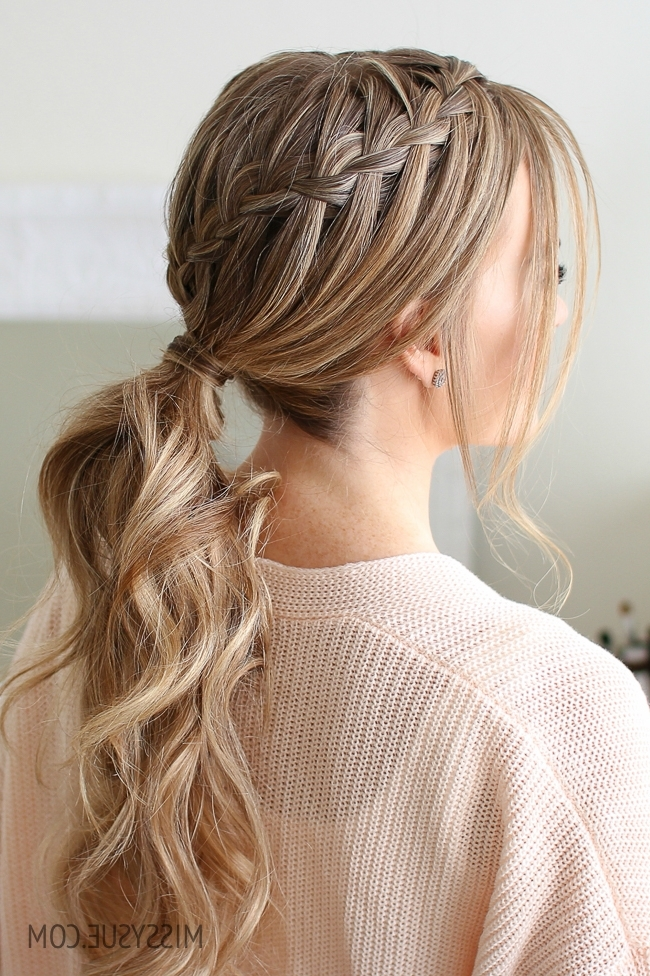 Double Waterfall Ponytail | Missy Sue With Long Classic Ponytail Hairstyles (Gallery 14 of 25)