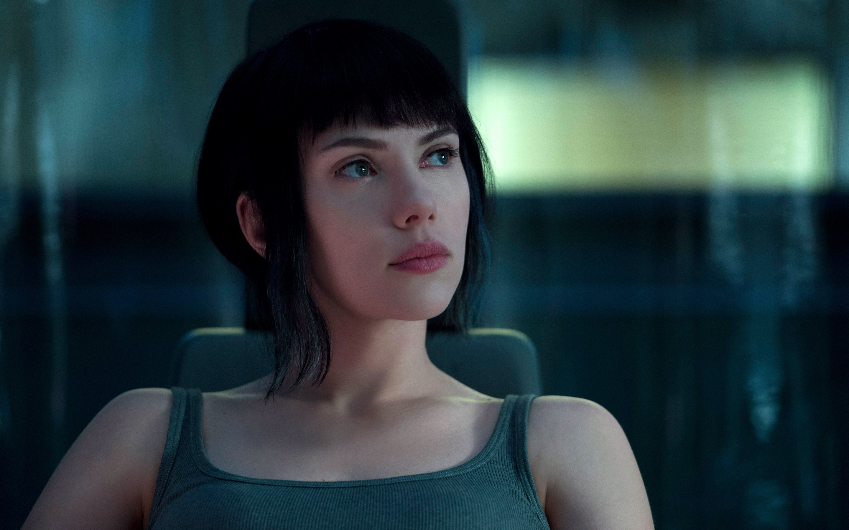 Download 2880X1800 Ghost In The Shell, Scarlett Johansson, Short Throughout Scarlett Johansson Short Haircuts (Gallery 21 of 25)