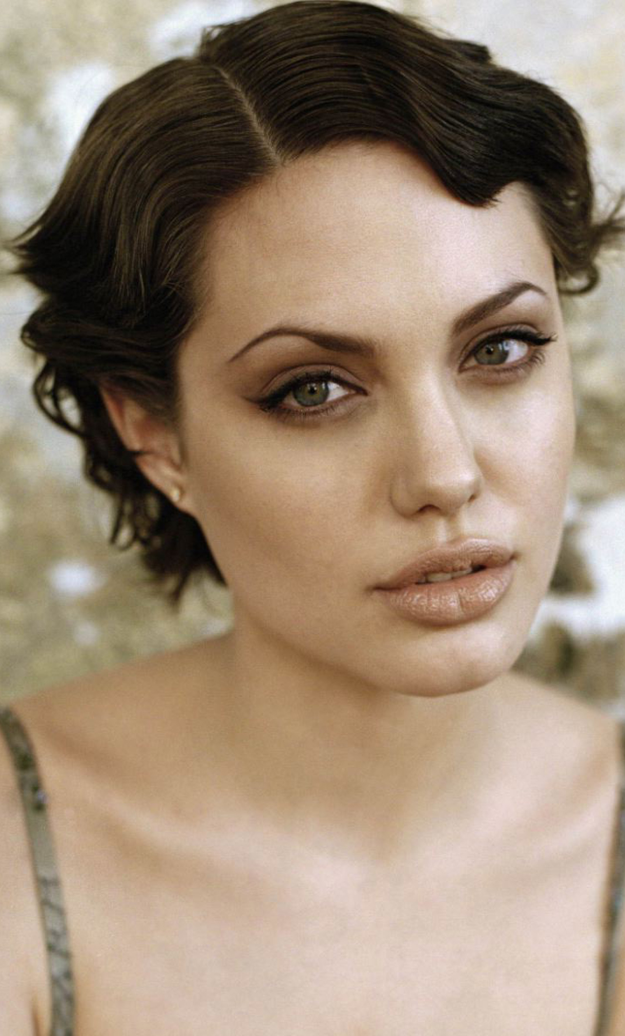 Download Angelina Jolie Short Hair Style Photoshoot 1280X2120 In Angelina Jolie Short Hairstyles (Gallery 4 of 25)