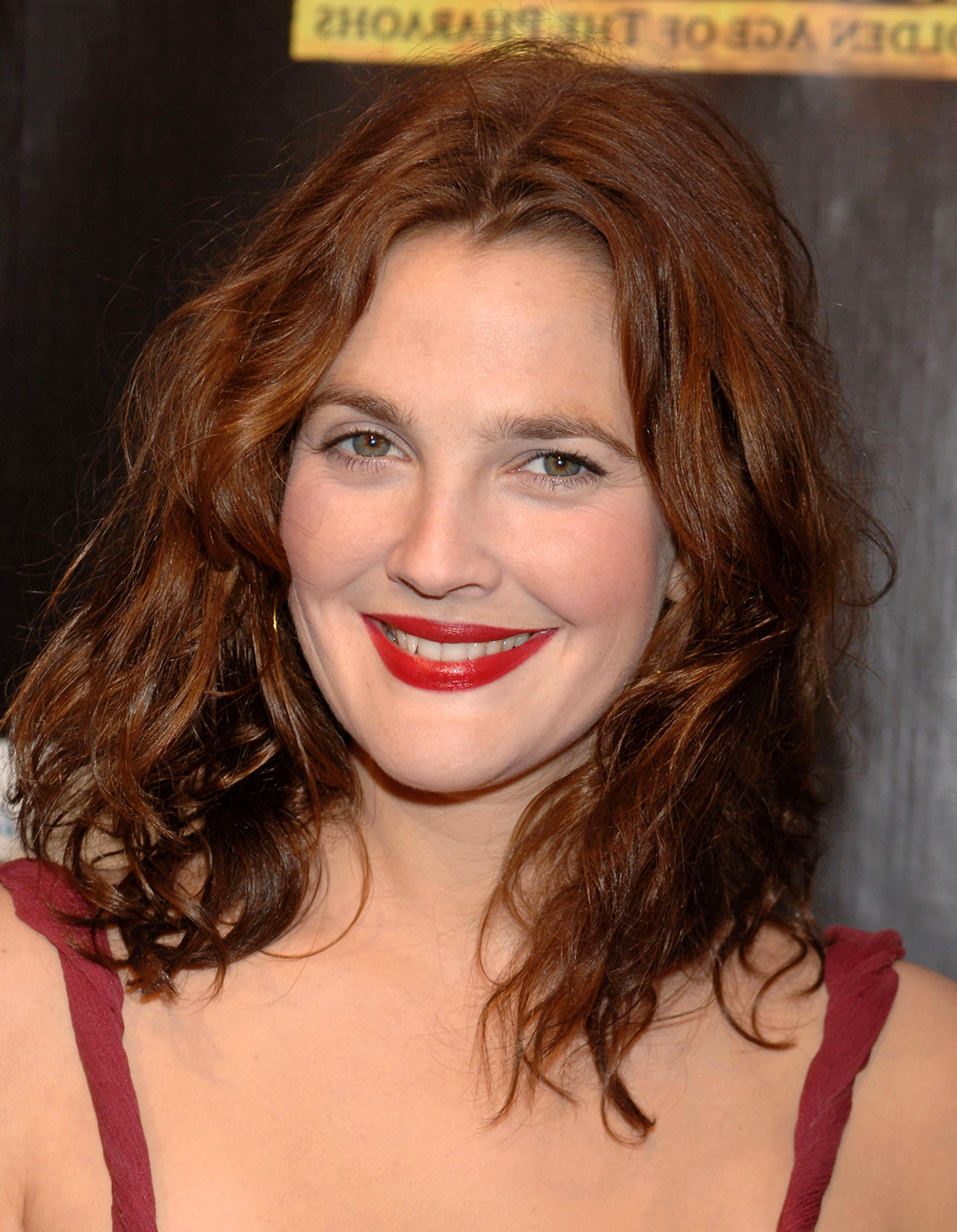 Drew Barrymore's Hair Evolution throughout Drew Barrymore Short Haircuts