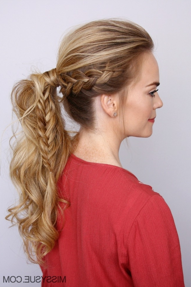 Dutch Braid Fishtail Ponytail | Missy Sue With Regard To Pony And Dutch Braid Combo Hairstyles (Gallery 5 of 25)