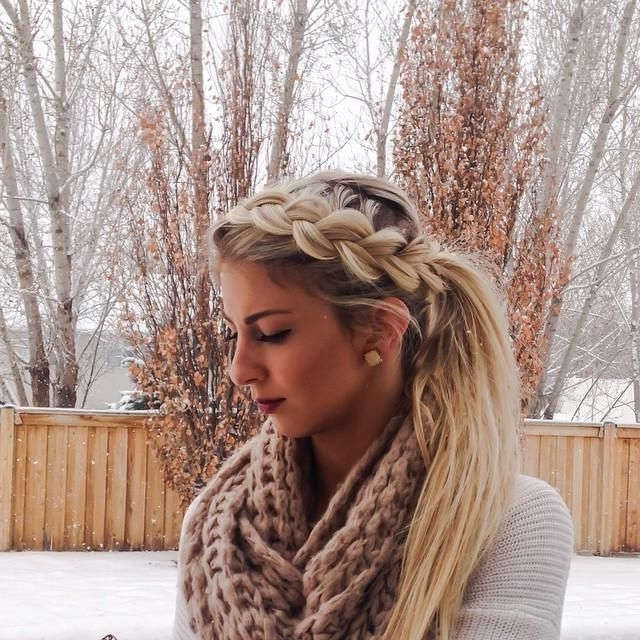 Featured Photo of Pony And Dutch Braid Combo Hairstyles
