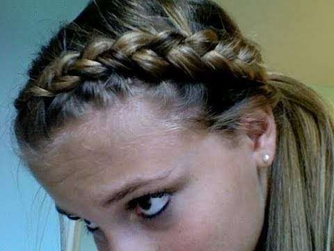 Dutch Braid Ponytail Tutorial | Tasha Farsaci – Youtube With Braided Crown Pony Hairstyles (Gallery 14 of 25)