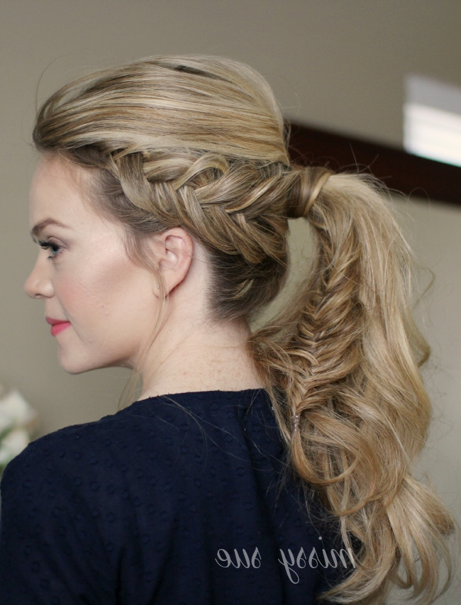 Dutch Fishtail Ponytail For Fishtail Braid Ponytails (Gallery 18 of 25)