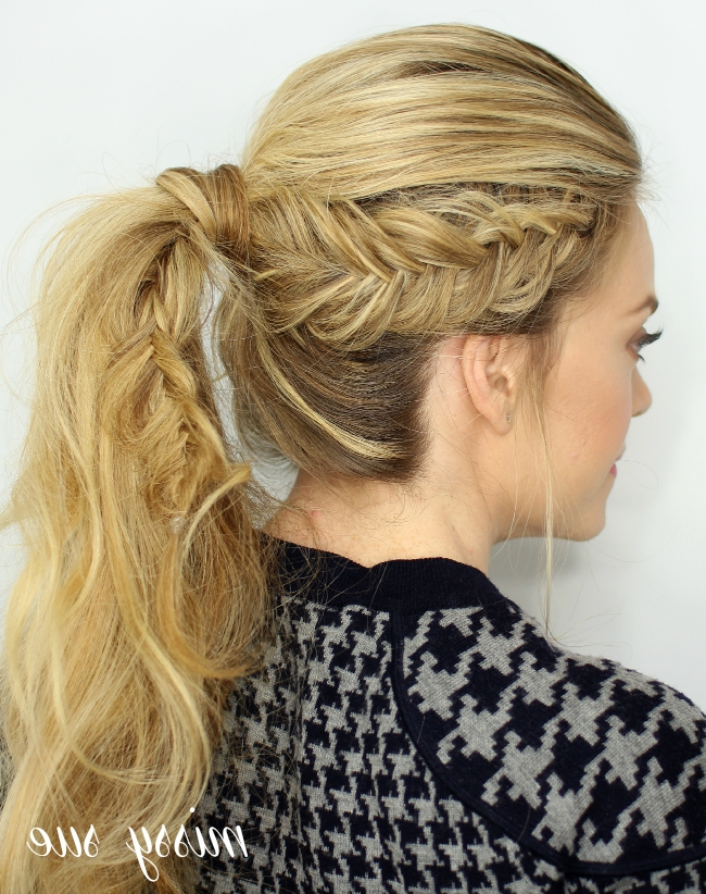 Dutch Fishtail Ponytail With Regard To Fishtail Braid Ponytails (Gallery 4 of 25)