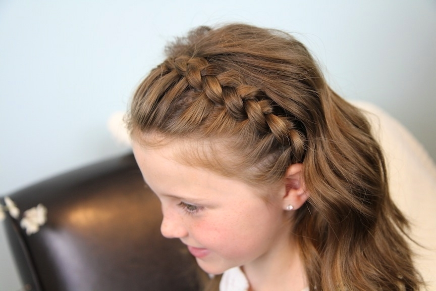 Dutch Lace Braided Headband | Braid Hairstyles | Cute Girls Hairstyles Intended For Black Curly Ponytails With Headband Braid (Gallery 13 of 25)