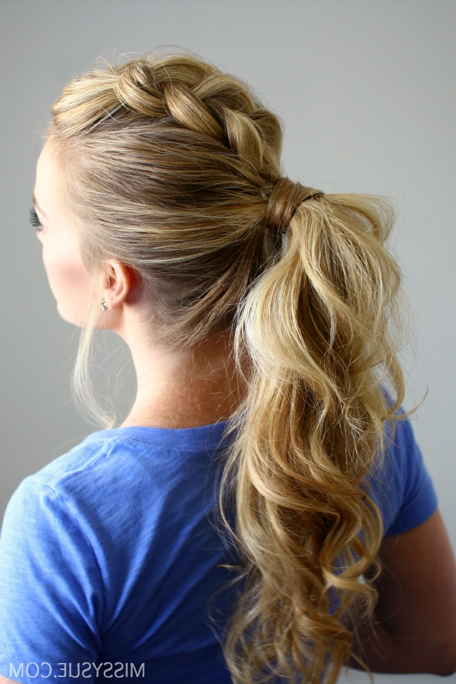 Dutch Mohawk Ponytail Intended For Pumped Up Side Pony Hairstyles (Gallery 5 of 25)
