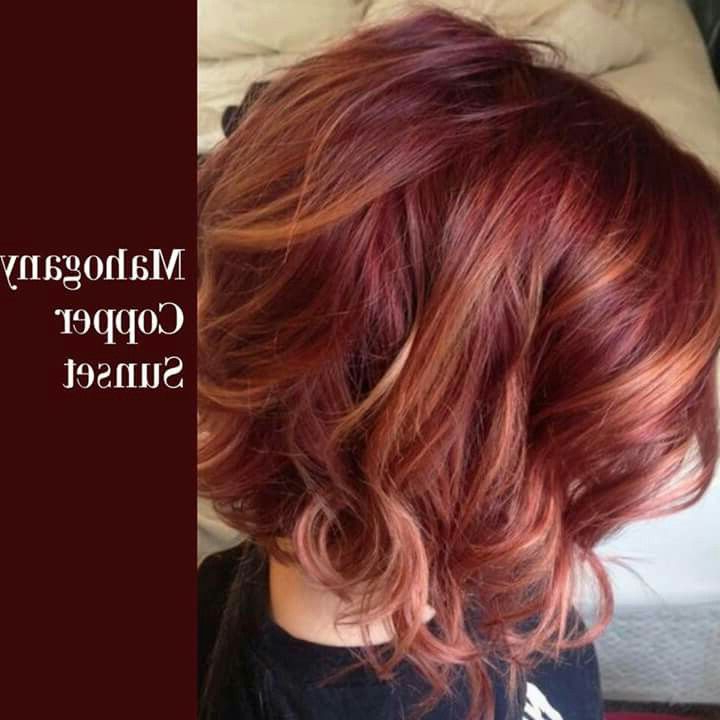 Dye Job | Hair And Face In 2018 | Pinterest | Hair, Hair Styles And Intended For Burgundy And Tangerine Piecey Bob Hairstyles (Gallery 15 of 25)