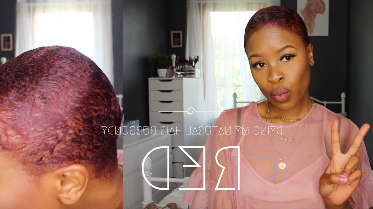 Dying My Short Hair Burgundy | Bola Martins – Youtube For Burgundy Short Hairstyles (Gallery 22 of 25)