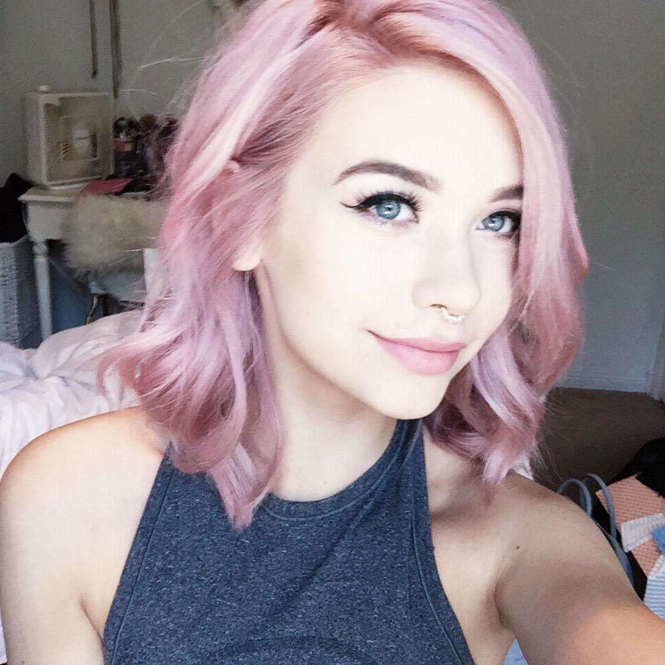 ???? Her Short Curled Pink Pastel Ombré Hair!!!! ??? With Pinks Short Haircuts (View 16 of 25)
