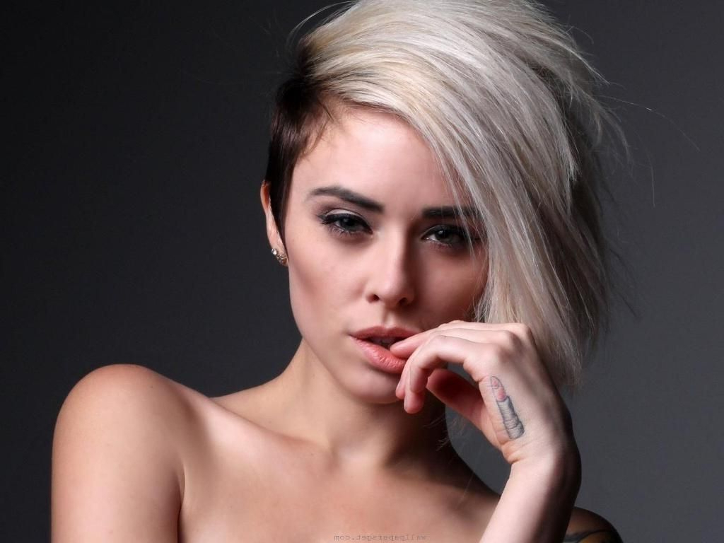 ? 24+ Lovely Short Shaved Sides Hairstyles: Short Haircuts With In Short Haircuts With Shaved Sides (View 25 of 25)