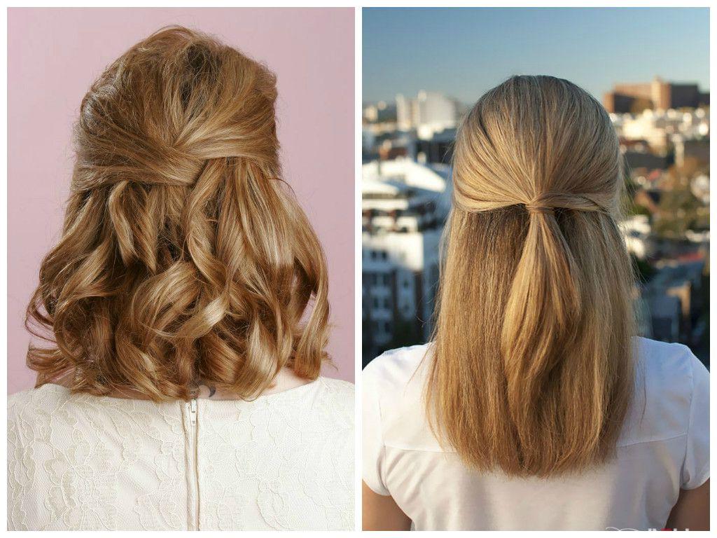 ? 24+ Winning Easy Half Up Half Down Hairstyles: Half Up Half Down Throughout Cute Wedding Hairstyles For Short Hair (View 20 of 25)