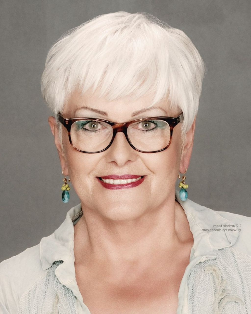 ? 24+ Wonderful Short Hairstyles With Glasses: Short Pixie Cuts With Regard To Short Haircuts With Glasses (View 20 of 25)