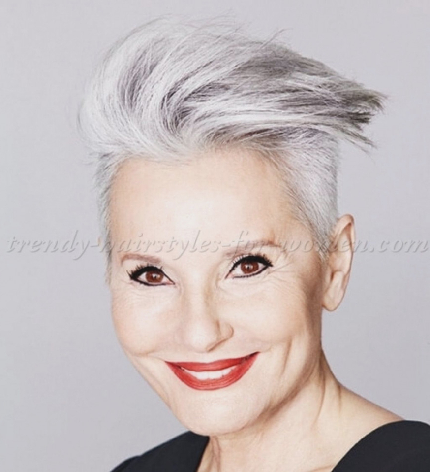 ? 37 Best Short Hairstyles For Gray Hair: Women's Hairstyles Gray Inside Short Hairstyles For Women With Gray Hair (View 1 of 25)