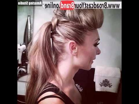? Fauxhawk Ponytail ? Style – Youtube Within Faux Hawk Ponytail Hairstyles (View 14 of 25)