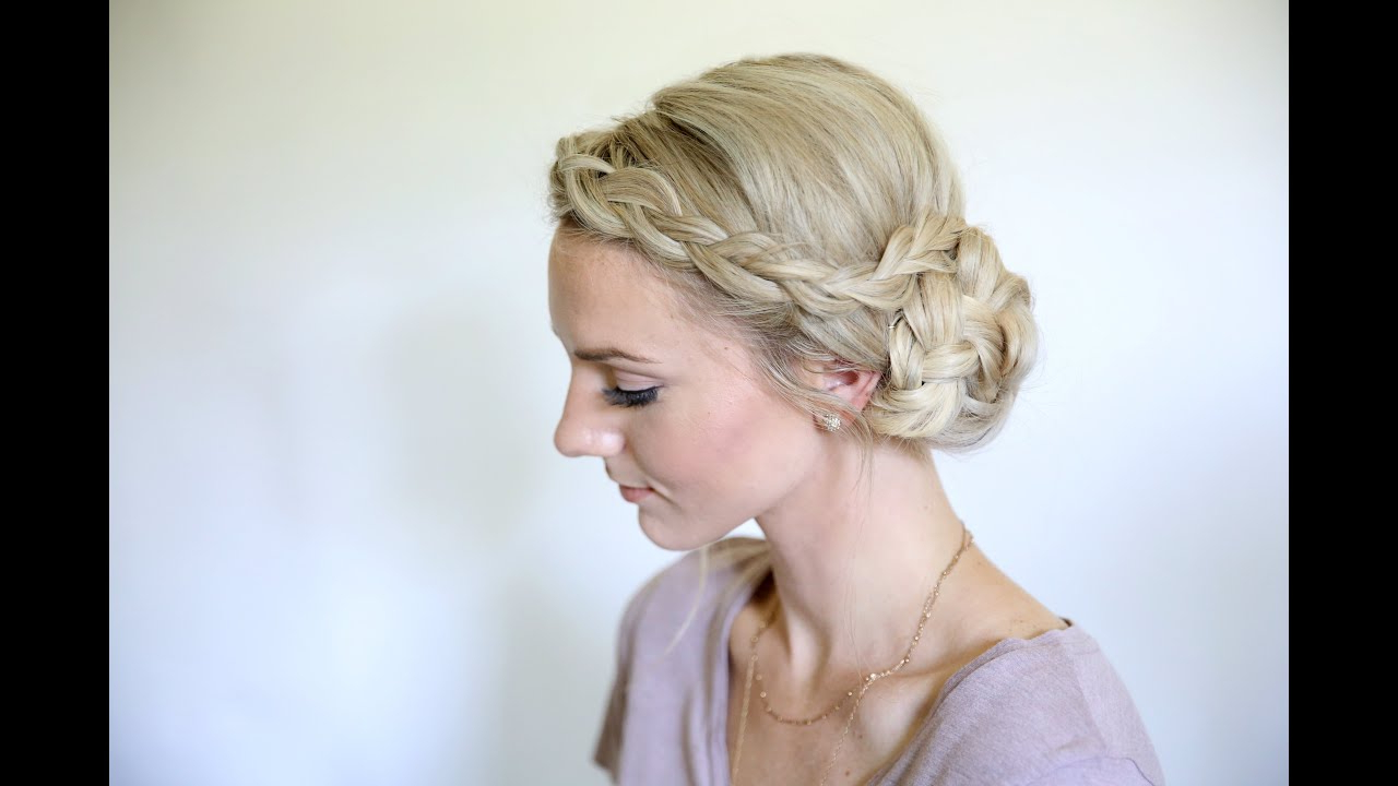 Easy Braided Side Bun | Homecoming Hairstyles | Cute Girls Intended For Cute Short Hairstyles For Homecoming (View 9 of 25)