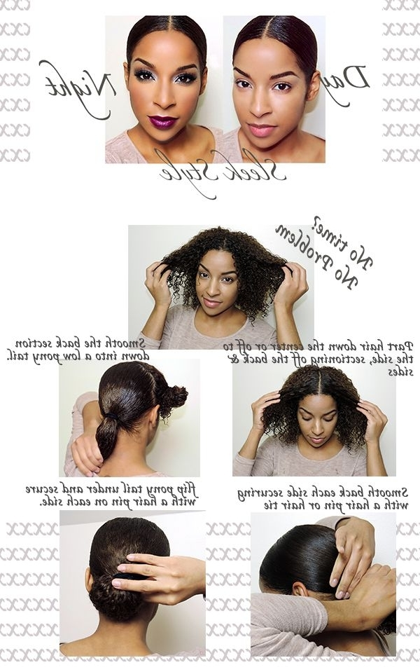 Easy Day To Night Sleek Style For The Curly Haired Girl | Hair With Sleek Ladylike Ponytail Hairstyles (View 14 of 25)